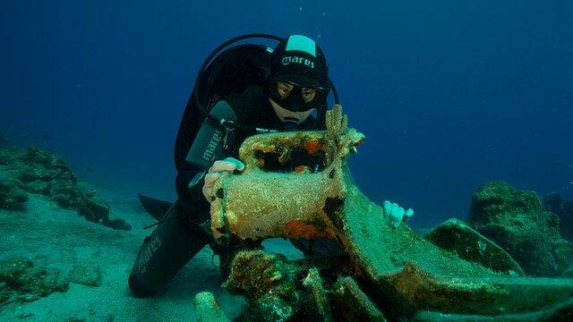 کشف بقایای کشتی 2000 ساله در یونان